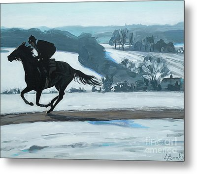 Winter Gallops Metal Print by Leigh Banks