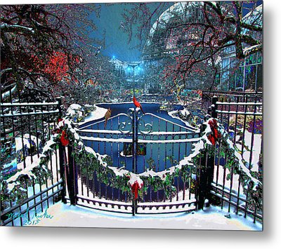 Winter Garden Metal Print by Michael Rucker