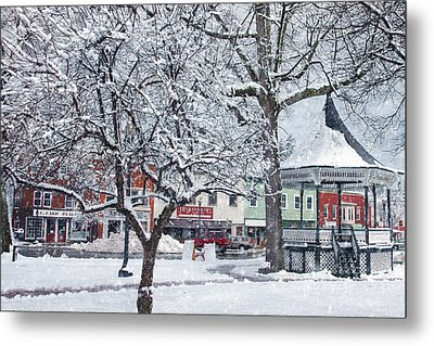 Winter Gazebo Metal Print by Joann Vitali