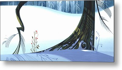 Winter Grace Metal Print