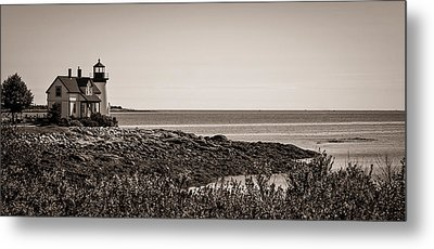 Winter Harbor Lighthouse Metal Print by Wayne Meyer