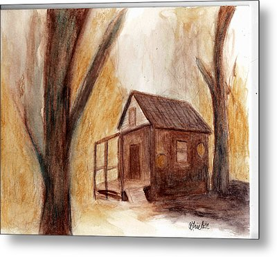 Winter Hideaway Metal Print by Andrea Friedell