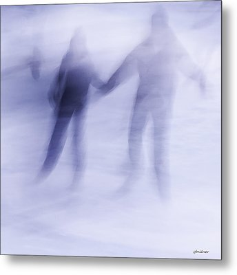 Metal Print featuring the photograph Winter Illusions On Ice - Series 1 by Steven Milner