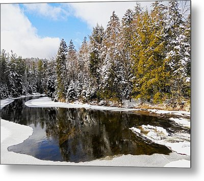 Metal Print featuring the photograph Winter Impressions ... by Juergen Weiss