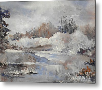 Winter Impressions Metal Print by Suzanne Schaefer