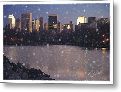 Metal Print featuring the digital art Winter In Central Park by David Klaboe