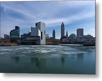 Winter In Cleveland Metal Print by Dale Kincaid