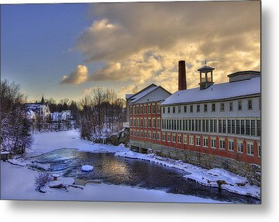 Winter In Milford New Hampshire Metal Print by Joann Vitali