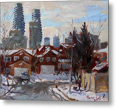 Winter In Mississauga  Metal Print by Ylli Haruni