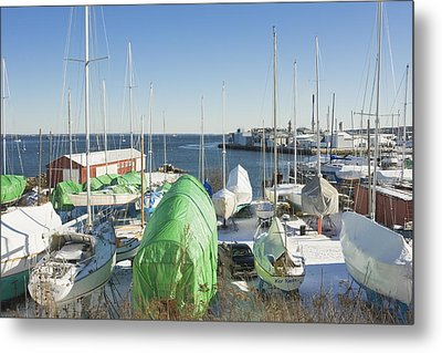 Winter In Rockland Maine Metal Print by Keith Webber Jr