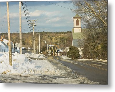 Winter In Round Pond Maine Metal Print by Keith Webber Jr