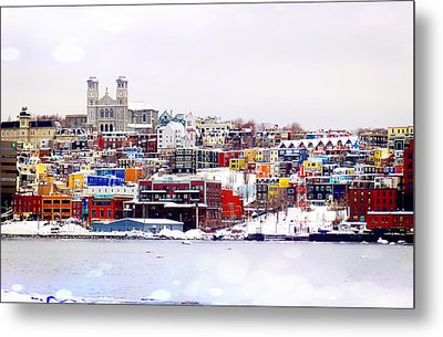 Winter In St. John's Metal Print by Zinvolle Art