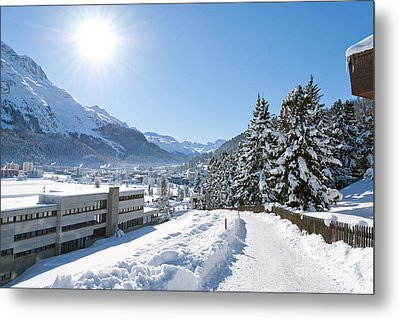 Winter In St. Moritz  Metal Print by Design Windmill