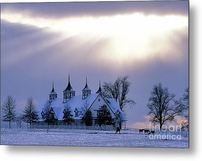 Winter In The Bluegrass - Fs000286 Metal Print