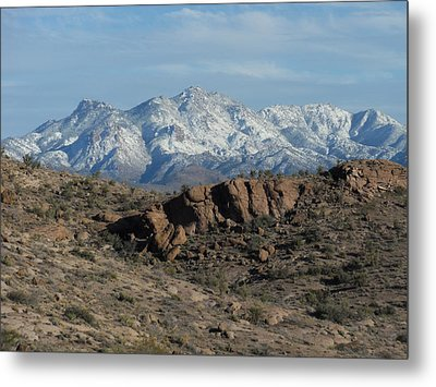 Winter In The  Mohave Desert Metal Print