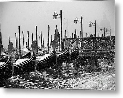 Winter In Venice Metal Print by Yuri Santin