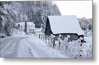 Winter In Virginia Metal Print by Benanne Stiens