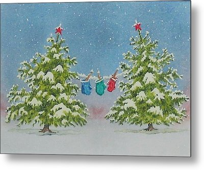 Winter Is Fun Metal Print by Mary Ellen Mueller Legault