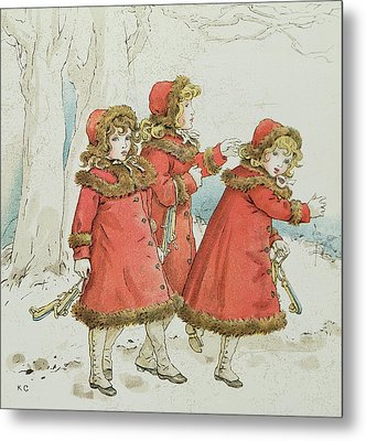 Winter Metal Print by Kate Greenaway