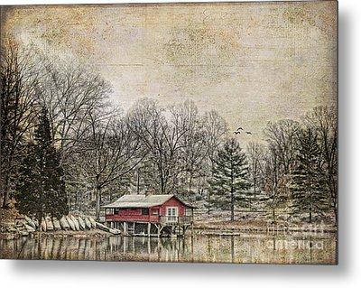 Winter Lake Metal Print by Darren Fisher