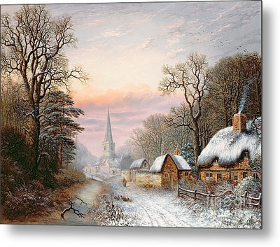 Winter Landscape Metal Print by Charles Leaver
