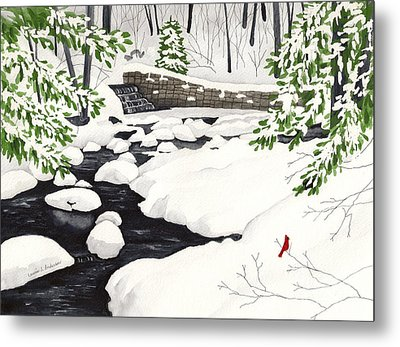 Winter Landscape - Mill Creek Park Metal Print