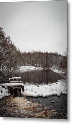 Winter Landscape Metal Print by Robert Hellstrom