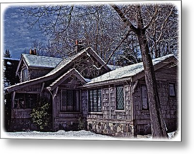 Winter Lodge Metal Print