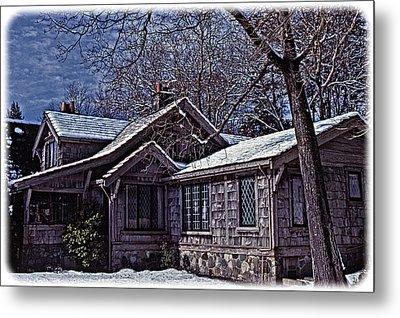 Winter Lodge Metal Print by Richard Farrington