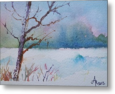 Winter Loneliness Metal Print by Anna Ruzsan