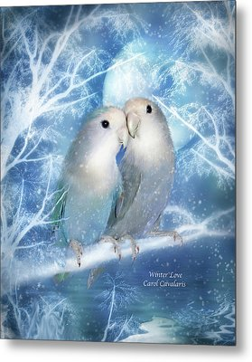 Winter Love Metal Print by Carol Cavalaris