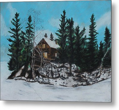 Winter Marshland Metal Print