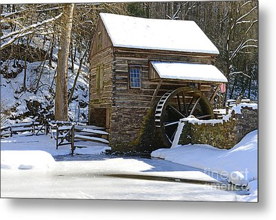 Winter Mill Metal Print by Paul Ward