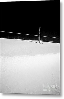 Winter Minimalism Black And White Metal Print by Edward Fielding