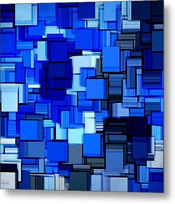 Winter Modern Abstract Xix Metal Print by Lourry Legarde