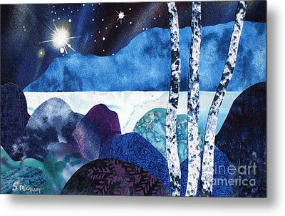 Winter Moon 2 Metal Print by Susan Minier
