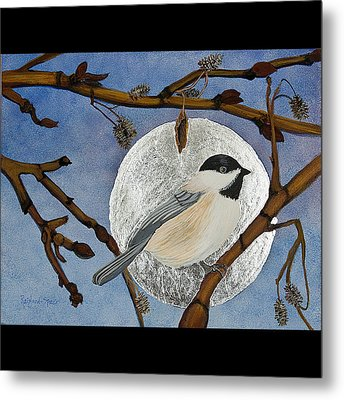 Winter Moon Metal Print by Amy Reisland-Speer