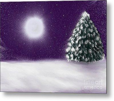 Winter Moon Metal Print by Roxy Riou