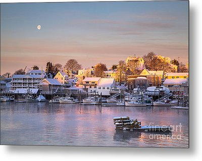 Winter Morning In Boothbay Harbor Metal Print