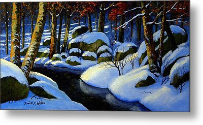 Winter Morning Light Metal Print by Frank Wilson