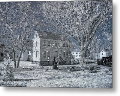 Winter Morning - Strawbery Banke - Portsmouth Nh Metal Print by Joann Vitali