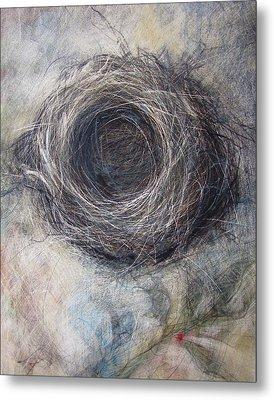 Winter Nest Metal Print