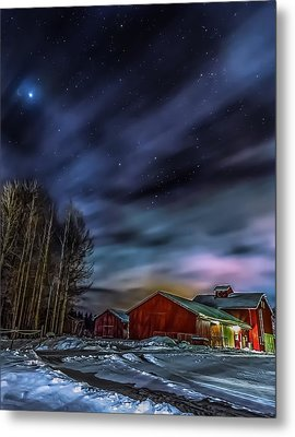 Metal Print featuring the photograph Winter Night by Rose-Maries Picturtes