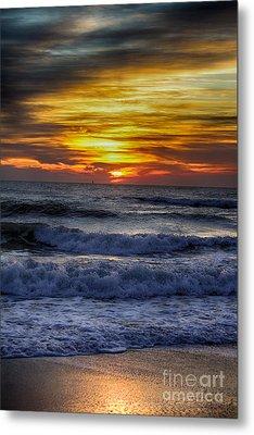 Winter North Carolina Sunrise Metal Print by Tony Cooper