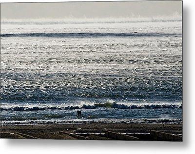 Winter Ocean Rockaway Beach Metal Print