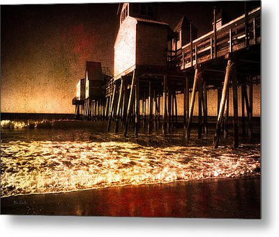 Winter Old Orchard Beach Metal Print by Bob Orsillo