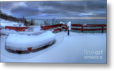 Winter On The Arcadia Overlook Metal Print by Twenty Two North Photography