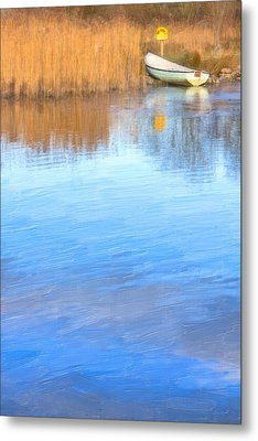 Winter On The Corrib In Galway Metal Print by Mark Tisdale