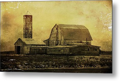 Winter On The Farm Metal Print by Dan Sproul