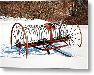Metal Print featuring the photograph Winter On The Farm by James Kirkikis